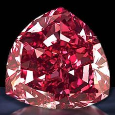 De Young Red Diamond - 5.03 carat, modified round brilliant-cut, fancy dark red, VS2 clarity diamond