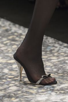 Marco de Vincenzo at Milan Fashion Week Spring 2019 - Details Runway Photos Pantyhose Heels, Stockings Heels, Womens Fashion Australia, Sexy Sandals, Sexy Toes, Milan Fashion Weeks, Sexy High Heels, Stiletto Heels, Fashion Shoes