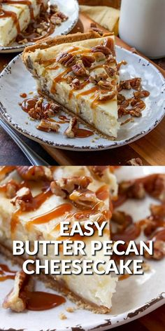 One of my absolute favorite ice cream flavors turned into the most amazing (and easy!) butter pecan cheesecake. Simply delicious!