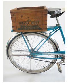 Eleanor's | Vintage Roast Beef Upcycled Bicycle Crate