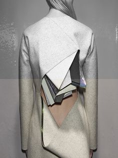 Stéphanie Baechler - This stunning Lodonite collection by Swiss designer Stéphanie Baechler blurs the lines between art and fashion, utilizing abstract sculptura. Geometric Fashion, 3d Fashion, Fashion Details, Fashion Design, Textiles, Textile Manipulation, Avantgarde, Design Blog, Sculptural Fashion