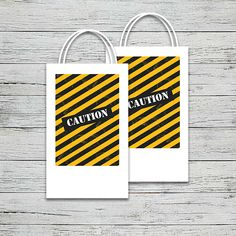 This theme is explosive! Dump everything and grab our adorable construction themed printables. Construction Party, Cupcake Wrappers, Party In A Box, Party Printables, Label, Invitations, Bag, Save The Date Invitations, Bags