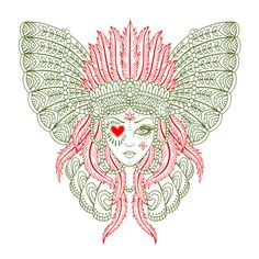Saira Hunjan - Native American Goddess design