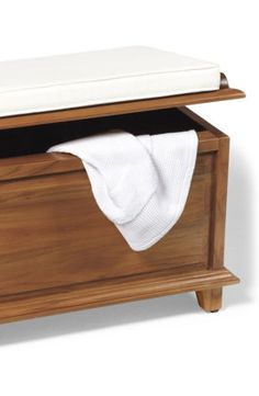 Teak Storage Bench. I Love Anything Made Of Teak    Especially For The  Bathroom