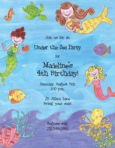 M. Middleton Cheerful Mermaid Designer Paper - 15 ct - Free Shipping #YoYoBirthday