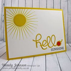 Stampin' Up! Hello You Sunshine Card