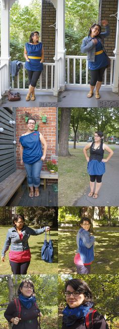 Annick Gaudreault showing off a few ways she rocks her Vesalette! Keep them coming, Annick!