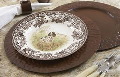 Castillian Embossed Charger Ru - Napa Home and Garden   domino.com