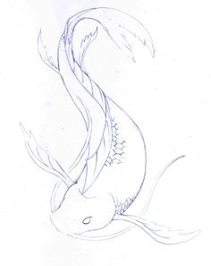 koi fish drawings in pencil - Google Search                                                                                                                                                      More
