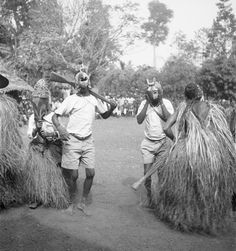 Young Igbo maskers, initiation ceremony, Ifogu Nkporo masquerade, Obohia, Nkporo-Igbo. Photo by G. I. Jones, 1930s.