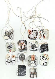 more altered tea tags | by Ines Seidel