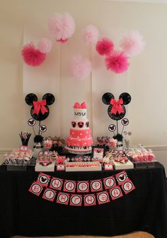 "Photo 15 of 33: Minnie Mouse / Birthday ""Pink + Zebra Minnie Mouse Party"" 