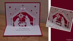 christmas card Pop Up Karten, Kirigami, Christmas Cards, Playing Cards, Blog, Google, Xmas, Card Crafts, Christmas Greetings Cards
