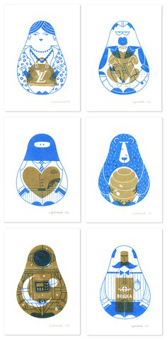 Russian Specialties by Olja Ilyushchanka #screenprint #riso