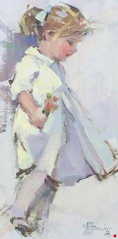Party Dress by Nancy Franke Oil ~ 16 x 8