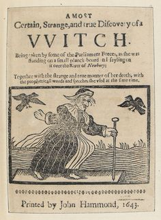 Woodcuts and Witches | The Public Domain Review (Hey, VVitch !! VVhat up ?!)