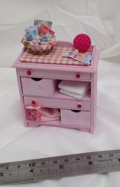 Dolls House Miniatures - Baby Changing Unit - NEW AUTUMN 2015