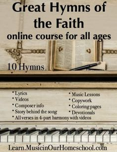 Deal ends today! Great Hymns of Faith 40% off. Excellent way to add music to your homeschool. Music Lessons For Kids, Piano Lessons, Music Lesson Plans, Singing Lessons, Music For Kids, Homeschool Curriculum, High School Curriculum, Homeschooling, Music Education
