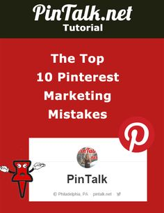Ten Pinterest Marketing Mistakes Pinterest is a great social media channel to use to market your business, brand or product. It's mostly female users are affluent and stats show they are willing to spend money on brands that attract their eye. When they do buy, they generally spend more per transaction than a Facebook user. …