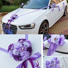 Wedding Car Ribbon Married Car Decorations Bridal Car Decoration Wedding Car…