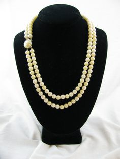 Old Double Strand Pearl Necklace   SHE LOVES YOU   by EttaLouise, $39.00