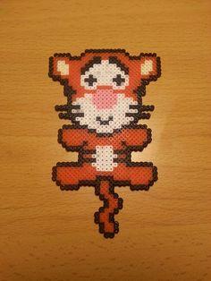 Tigger (Winnie the Pooh) Hama Beads, Tigger Winnie The Pooh, Pixel Beads, Bead Art, Bowser, Jewelry Ideas, Crafts For Kids, Cross Stitch, Internet