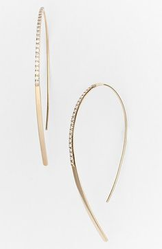Lana Jewelry 'Fatale - Hooked On' Diamond Hoop Earrings available at #Nordstrom