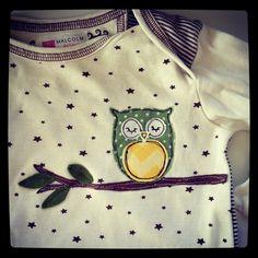 Owl Applique Long Sleeve Onesie. via Etsy.