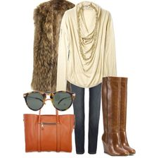 Love this fall style especially with the fur vest! #whippedstyle