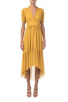 Ulla Johnson - Sonja Yellow Silk Dress