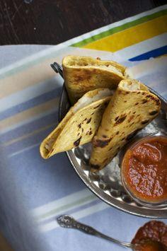 Crispy Potato Tacos with Guajillo-Orange Salsa | ¡HOLA! JALAPEÑO