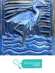 Crane Tile from Littoral Drift http://www.amazon.com/dp/B01D8ZSIP2/ref=hnd_sw_r_pi_dp_gSD8wb1K5JAFB #handmadeatamazon