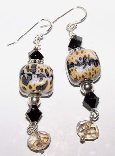 Handmade Lampwork Glass Sterling Silver by nycfashionconnection, $30.00