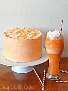 Orange Dreamsicle Cake   www.sayitwithcake.org   #orangecake