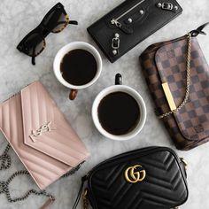 Got your eye on the super popular Gucci Marmont? Ysl Woc, Gucci Marmont Mini, Lv Handbags, Replica Handbags, Fashion Handbags, Backpack Keychains, Cloth Bags, Luxury Bags, Online Bags