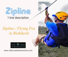 """One of the most exhilarating #adventures_in_Rishikesh, """"Zipline or Flying Fox"""" lets enthusiasts enjoy the airflow and gravity as you fly 200 feet high like a hawk and witnesses the stunning landscape of the place. Undoubtedly, the top view of #River_Ganges and #Garhwal_Himalayas are more than fascinating."""
