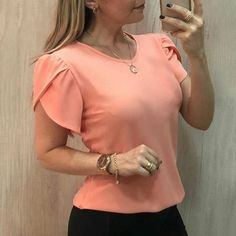 High Quality 4 Color Plain T Shirt Women Polyester Elastic Basic T-Shirts Female Casual Tops Short Sleeve T-Shirt Women Plus Size Women's Tops, Sleeves Designs For Dresses, Moda Casual, Summer Blouses, Short Tops, Casual Tops, Casual Shirts, Blouse Designs, Blouses For Women