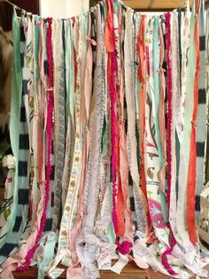 This shabby Chic garland curtain shows pure Junk Gypsy Hippie style and has a ROMANTIC SHABBY CHIC theme feel, really makes a statement! This