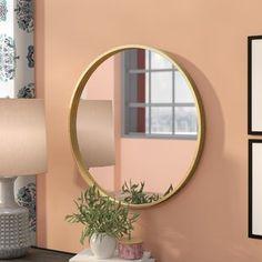 Circular Mirror, Round Wall Mirror, Wall Mounted Mirror, Round Mirrors, Wall Mirrors, All Modern, Modern Contemporary, Freestanding Mirrors, Mirrors Wayfair
