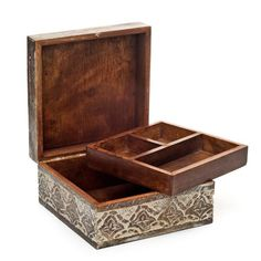 Antique Finish Jewelry Box