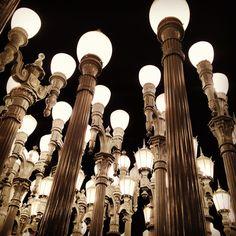 The beautiful lights of LACMA.