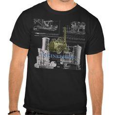 Engineering! Vintage steam engine illustrations Tshirts.