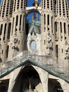 Another view on Sagrada Familia - Barcelona, Spain. - over 100 years of construction!