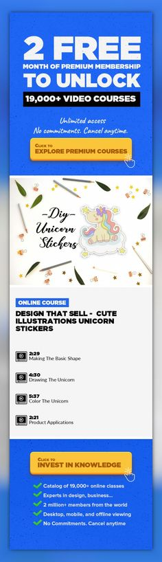Design That Sell -  Cute Illustrations Unicorn Stickers Product Design, Illustration, Drawing, Character Design, Creative, Figure Drawing, Portraits, Creative Insights, Digital Illustrations #onlinecourses #CoursesDIY #onlineeducationtipsLet's Discover How To Make Cute Illustrations From Scratch to Products! Hi, I'm Winda Lee and I have been illustrated children books since 2007. And through th...