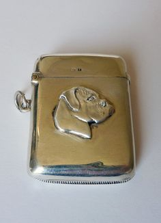 Antique Sterling Silver Vesta Case/Match Safe by MaisonDogLondon