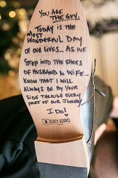 Message from bride to groom on bottom of shoe lovenote shoe message weddingday wedding bride iloveyou shoes groom groomsshoes Cute Wedding Ideas, Wedding Goals, Wedding Tips, Wedding Bride, Our Wedding, Wedding Planning, Dream Wedding, Wedding Hacks, Bride Groom