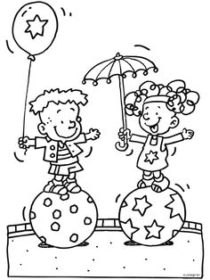 Kleurplaat Kunstjes doen in het circus - Kleurplaten.nl Rainy Day Activities, Creative Kids, Kids Learning, Coloring Pages, Fairy Tales, Arts And Crafts, Snoopy, Clowns, Mandala