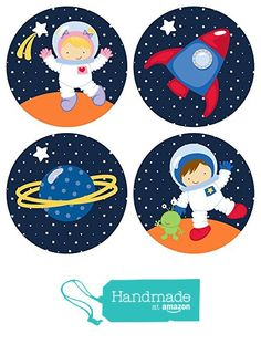 Outer Space Stickers for Boys and Girls - Favor Labels - Set of 50 In a set, you. - Noel - Outer Space Stickers for Boys and Girls – Favor Labels – Set of 50 In a set, you… – Adoreb -