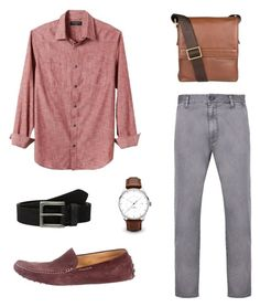 """For men (formal) #1"" by rizkia-mutiara-ramadhani on Polyvore featuring Banana Republic, Armani Jeans, Timberland, Tod's, Hidesign, men's fashion and menswear"