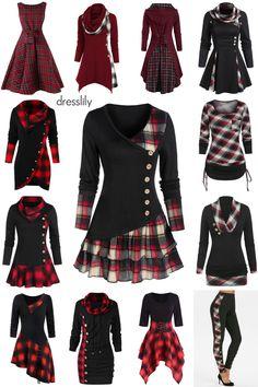 Plaid dresses, shirts, sweaters & pants inspirationen schwarzer rock Plaid Clothing and Plaid Outfits Plaid Outfits, Cute Casual Outfits, Pretty Outfits, Pretty Dresses, Plaid Dress, Plaid Pants, Skirt Pants, Spring Fashion Outfits, Plaid Fashion